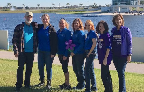 "Harvey Center, sponsor of the Sarasota/Manatee ""Walk to end Alzheimer's """